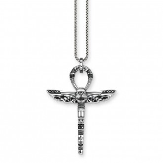 necklace cross of life ankh with scarab