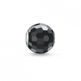 Bead obsidian faceted
