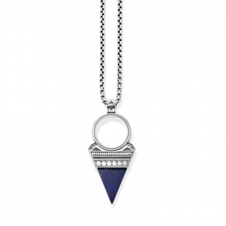 necklace triangle blue