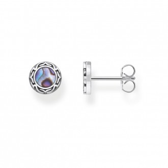 ear studs abalone mother-of-pearl