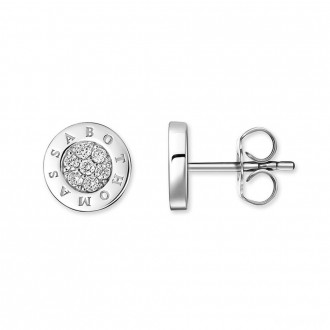 ear studs Classic pave white