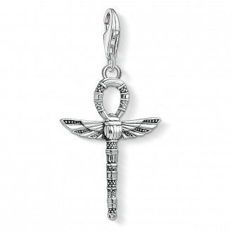 Charm pendant cross of life ankh with scarab